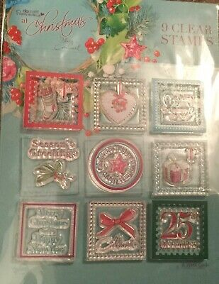 Papermania 9 Clear Christmas Stamps By Lucy Cromwell Papercraft *NEW* • 2.75£