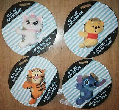 £9.50 • Buy Disney Store Marie Winnie The Pooh Tigger Stitch Clip On Soft Toy Decoration