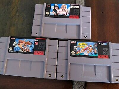 $ CDN49 • Buy SNES Games PinocchioFrantic FleaWayne's World Sold As Lot Of 3