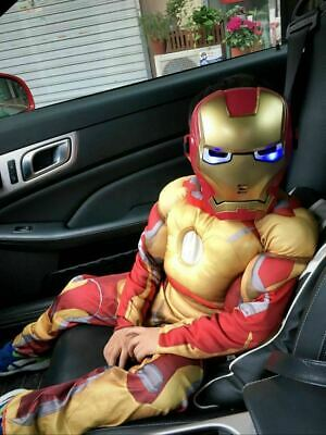 $24.69 • Buy Deluxe Suit Iron Man Avengers Kids Jumpsuit Superhero Muscle Costume Outfit US