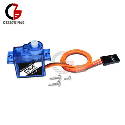 AU13.95 • Buy 10PCS 9G Micro Servo Metal SG90 Mini Gear Motor For RC Robot Helicopter Car Boat