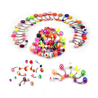 £4.35 • Buy 50pcs Belly Button Navel Ring Bar Bars Body Piercing Jewellery Rings Makeup
