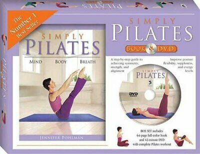 Simply Pilates Book And DVD (PAL) (Gift Box) By Pohlman, Jennifer Book The Cheap • 8.49£