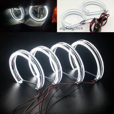 $69 • Buy DTM Crystal LED Angel Eyes Rings For BMW E46 NON Projector 99-04 Car Headlight