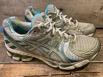 $17.99 • Buy ASICS Gel Kayano 17 Women's Gel Running Shoe Size 8.5 White Silver Blue Gree