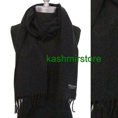 $8.99 • Buy New Men's 100% CASHMERE Scarf SOLID Charcoal Gray SCOTLAND Wool Wrap SOFT