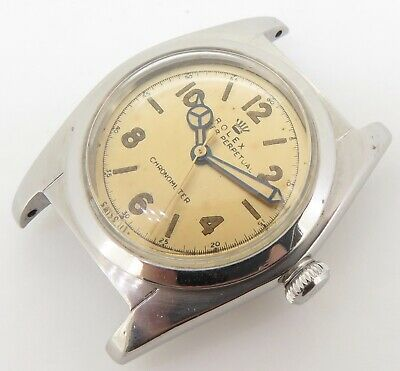 $ CDN4435.77 • Buy .Vintage 1945 Rolex Oyster Steel Bubble Back Watch Ref 2940 With Orig Dial