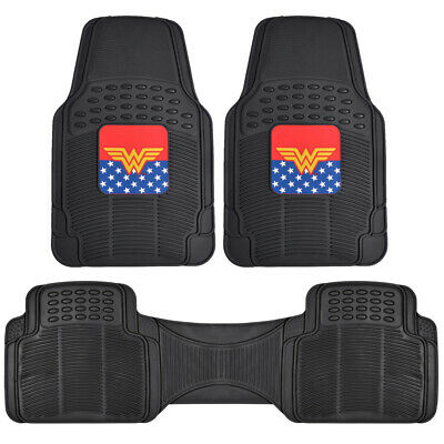 $33.90 • Buy Wonder Woman Car Floor Mats 3 Pieces Full Set Protection Accessory For Auto