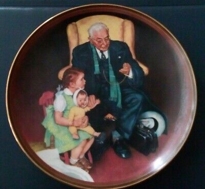 $ CDN17 • Buy The N. Rockwell Plate 1988   The Tender Loving Care   8.5 Inches.