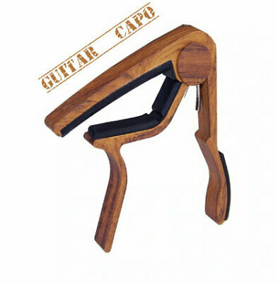 $ CDN12.02 • Buy 6 String Acoustic And Electric Guitar Capo Wood Adjustable Quick-Change AWSOME !