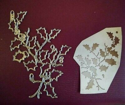 Sizzix Die Cutter Thinlits Christmas Holly Branches  Fits Big Shot • 6.40£