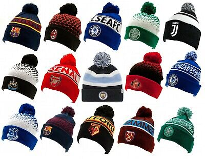 $ CDN21.24 • Buy Football Team Knitted Cuff Bobble Hat Up Turn Winter New Official Soccer