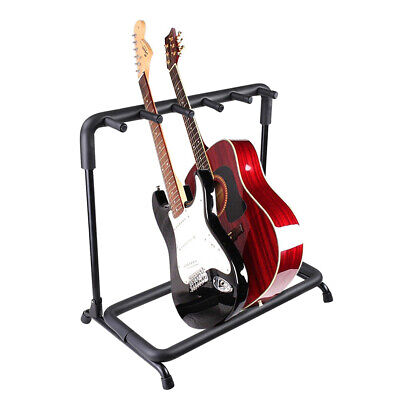 AU38.90 • Buy 5 Five Multiple Guitar Folding Stand Bass Acoustic Guitar Holder Rack Display