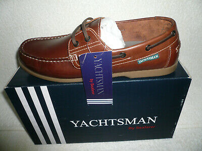 Mens Deck Shoes Sizes 7-12 Uk Brown New Real Leather Yachtsman • 26.99£