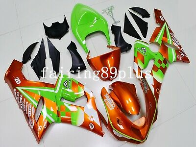 $519 • Buy Burnt Orange Green ABS Injection Plastic Fairing Kit Fit For 636 ZX6R 2005 2006