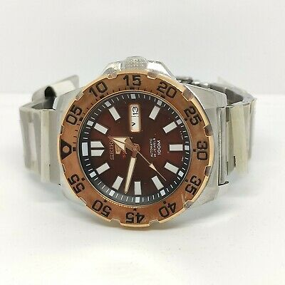 $ CDN906.92 • Buy SRP488K1 Mini Monster Brown Dial Stainless Steel Automatic Watch