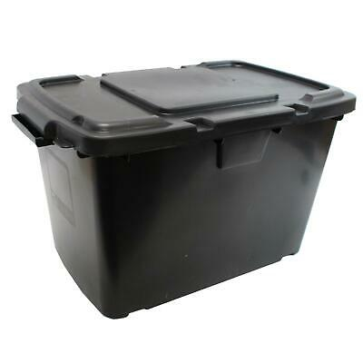 Coral 55 Litre Black Outdoor Kerbside Waste Recycling Box / Storage Box & Lid • 19.99£