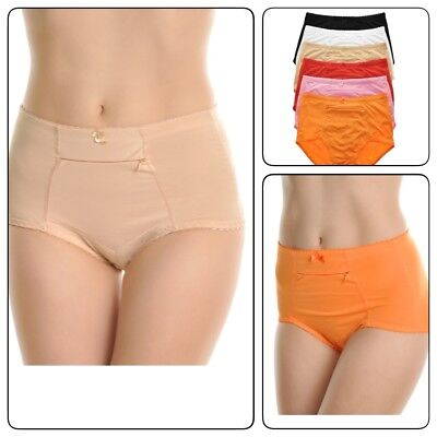 $19.99 • Buy 6 Pcs Women Underwear  Panties Cotton Classic Girdle With Zipper Pocket S-4XL