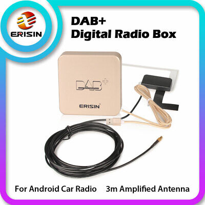 Car USB DAB+ Receiver Adapter Antenna ES364 For Erisin Stereo Android  6.0-9.0 • 33.64£