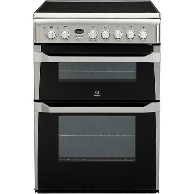£389.96 • Buy Indesit 60cm Double Oven Electric Cooker With Ceramic Hob - Stainless Steel