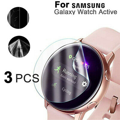 AU5.99 • Buy 3X TPU Clear Film Screen Protector For Samsung Galaxy Watch Active 40mm