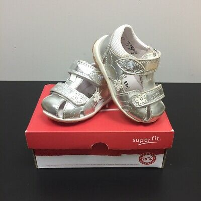 £17.95 • Buy SUPERFIT Fanni Girls Kids Silver Leather Closed Toe Sandals 6-00038-51