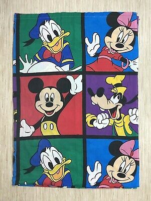 Vintage Disney Mickey Mouse Bedroom Set Curtains Fitted & Flat Sheet Pillow Case • 15.03£