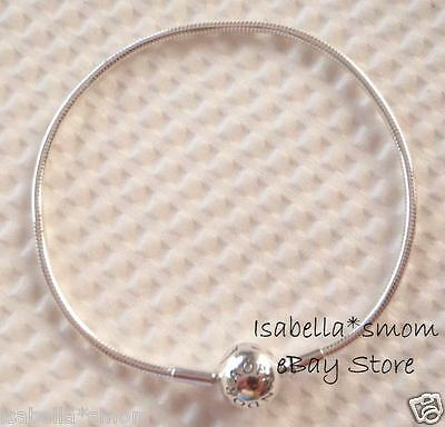ESSENCE Authentic PANDORA Silver SMOOTH BRACELET 7.5 /19cm 596000 NEW W Pouch • 36.08£