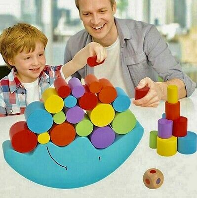 AU25.73 • Buy Children Toys Moon Balance Game For 2-4-year-old Puzzles Multicolor Baby Motoric