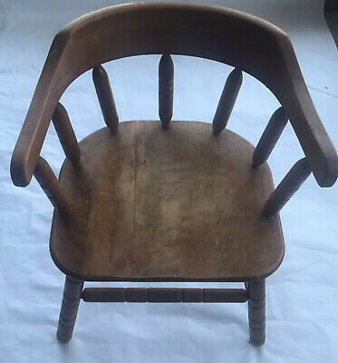 $40 • Buy Vintage Small Wood Wooden Child's Children's Doll Chair  21  Tall Spindle Back