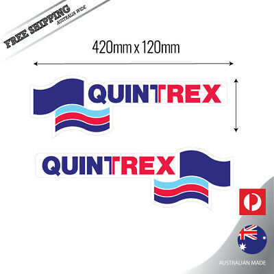 AU38.95 • Buy Quintrex 42cm Mirrored, Fishing Boat Sticker Decal Set Of 2
