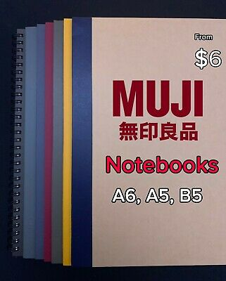 AU6 • Buy MUJI Notebooks Bound Spiral A5 B5 Japan