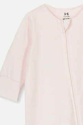 View Details Cotton On Kids Girls The Long Sleeve Zip Romper Rompers & All In Ones  In  Pink • 19.99AU