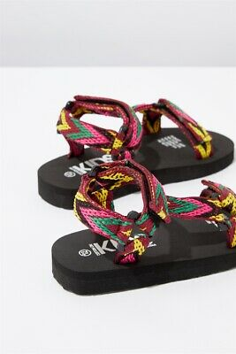 View Details Cotton On Kids Charlie Woven Strap Sandal Sandals  In  Pink Multi • 5.00AU