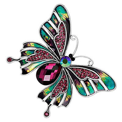 Female Bouquet Brooch Rhinestone Insect Scarf Clip Party Wedding Dress Clip • 3.05£