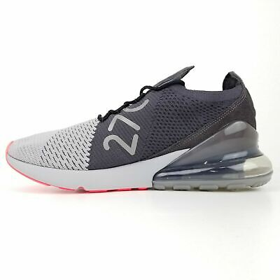 Nike Air Max 270 Flyknit Atmosphere Grey/Black & Pink Run Shoes AO1023 004, $170 • 89.95$