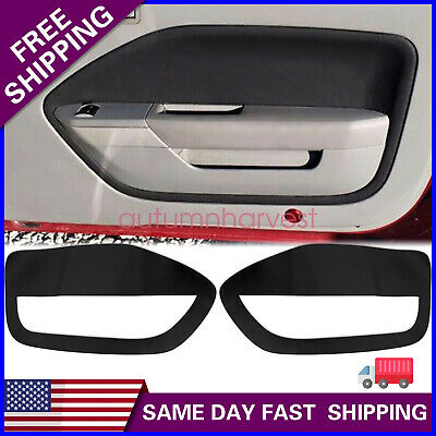 $19.99 • Buy 2pcs Leather Door Panel Insert Cards Cover Fit For Ford Mustang 05-09 Black New