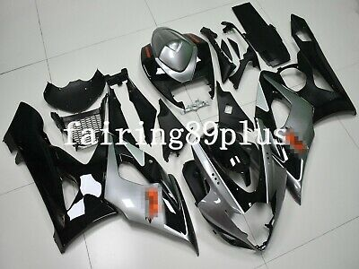 $509 • Buy Black Silver-Gray ABS Injection Bodywork Fairing Kit Fit For 2005 2006 GSXR1000