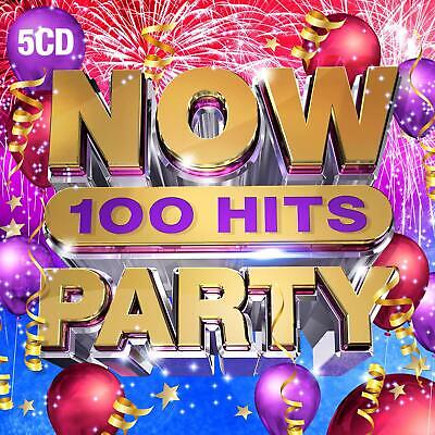 NOW 100 HITS PARTY (Various Artists) 5 CD Set (2019) (New & Sealed) • 11.95£