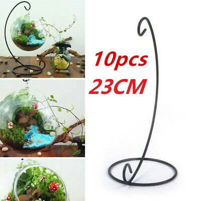 10pcs 23cm Christmas Gift Holders Stand Hanging Bauble Sphere Tree Plant Light • 12.99£
