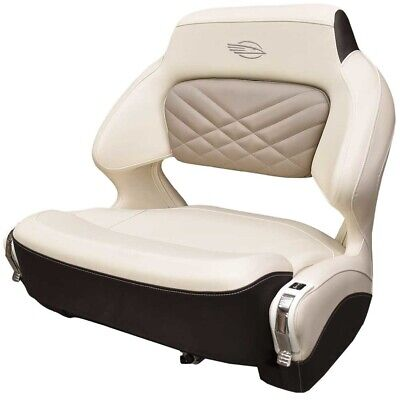 $ CDN1638.53 • Buy Chaparral Boat Helm Seat 31.00756 | Wide Bolster Cream Brown W/ Swivel