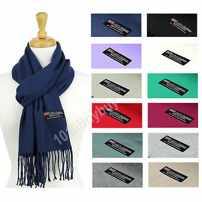 $7.99 • Buy Solid Scarf 100% Cashmere Made Scotland Soft  Winter Scarf For Men  And Women