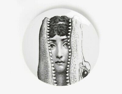 $260 • Buy Fornasetti Lina In Crocodile Mouth Wall Plate - Made In Italy NIB