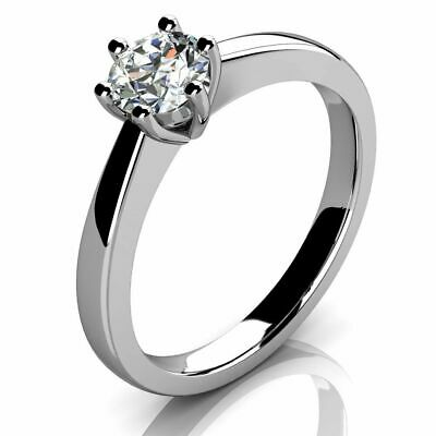 Bargain..! 0.50ct Round Diamond Solitaire Ring In Hallmarked Platinum • 999£