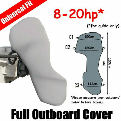 AU37 • Buy 8-20hp Full Outboard Boat Motor Engine Cover Dust Rain Protection Grey