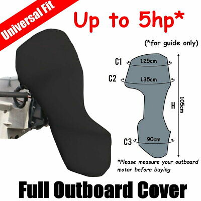 AU39 • Buy Up To 5hp Full Outboard Boat Motor Engine Cover Dust Rain Protection Black
