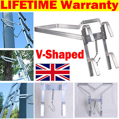£28.70 • Buy Aluminum Universal V-Shape Down Pipe Stand Off - Safe Ladder Accessory Help Stop