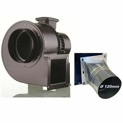 £103.90 • Buy Industrial Centrifugal Blower Extractor Fan Dust Fume + Adapter 120 Mm