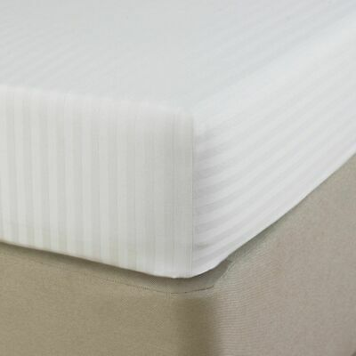 AU26.98 • Buy Luxury Hotel Quality Satin Stripe Deep Fitted Sheets 100% Egyptian Cotton 250TC