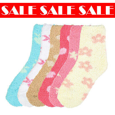 $12.99 • Buy 6 Pairs Women Winter Pattern Soft Cozy Plush Fluffy Warm Socks 9-11